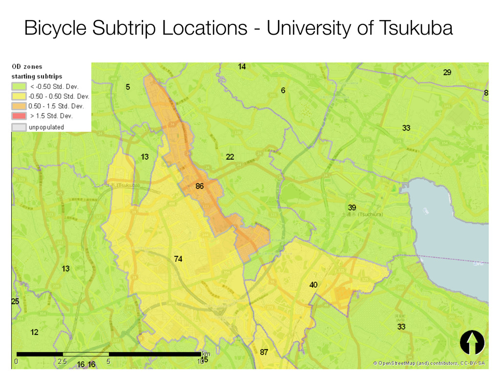 Bicycle Subtrip Locations - University of Tsuku...