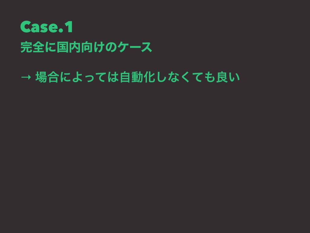 Case.1 શʹࠃ͚ͷέʔε → ߹ʹΑͬͯࣗಈԽ͠ͳͯ͘ྑ͍