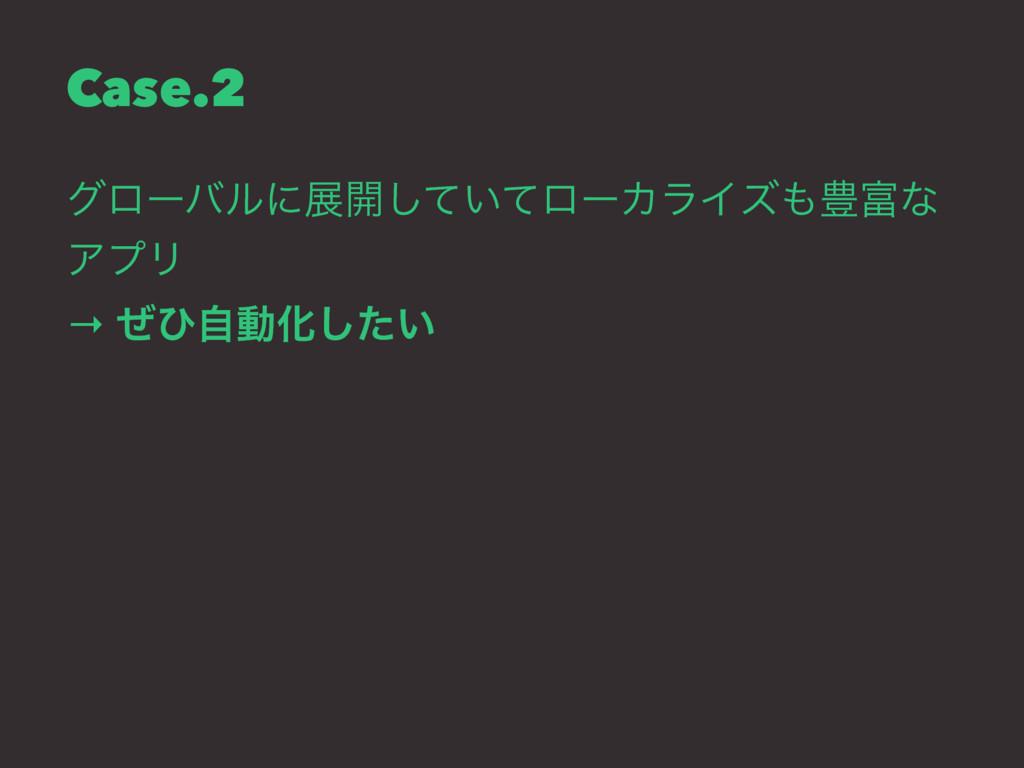 Case.2 άϩʔόϧʹల։͍ͯͯ͠ϩʔΧϥΠζ๛ͳ ΞϓϦ → ͥͻࣗಈԽ͍ͨ͠