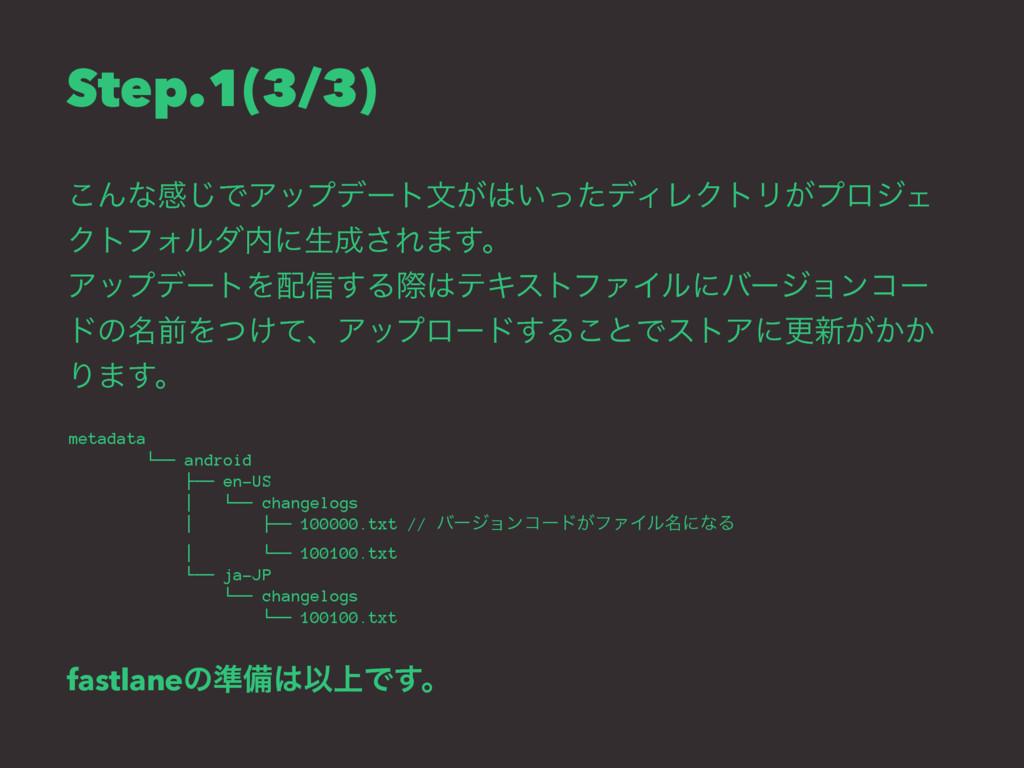 Step.1(3/3) ͜Μͳײ͡ͰΞοϓσʔτจ͕͍ͬͨσΟϨΫτϦ͕ϓϩδΣ ΫτϑΥϧ...