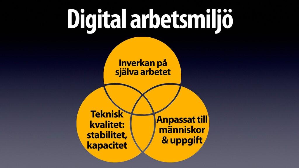 Digital arbetsmiljö Inverkan på själva arbetet ...