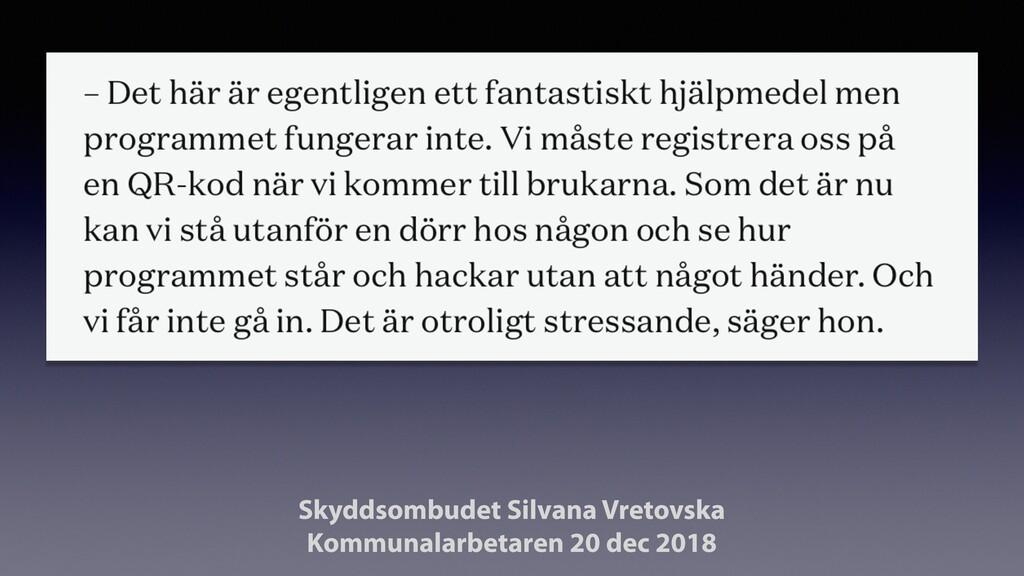 Skyddsombudet Silvana Vretovska Kommunalarbeta...