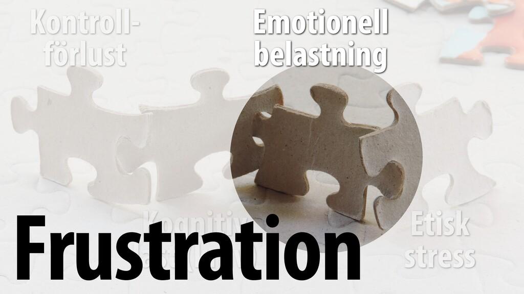 Etisk stress Kontroll- förlust Kognitiv last (...