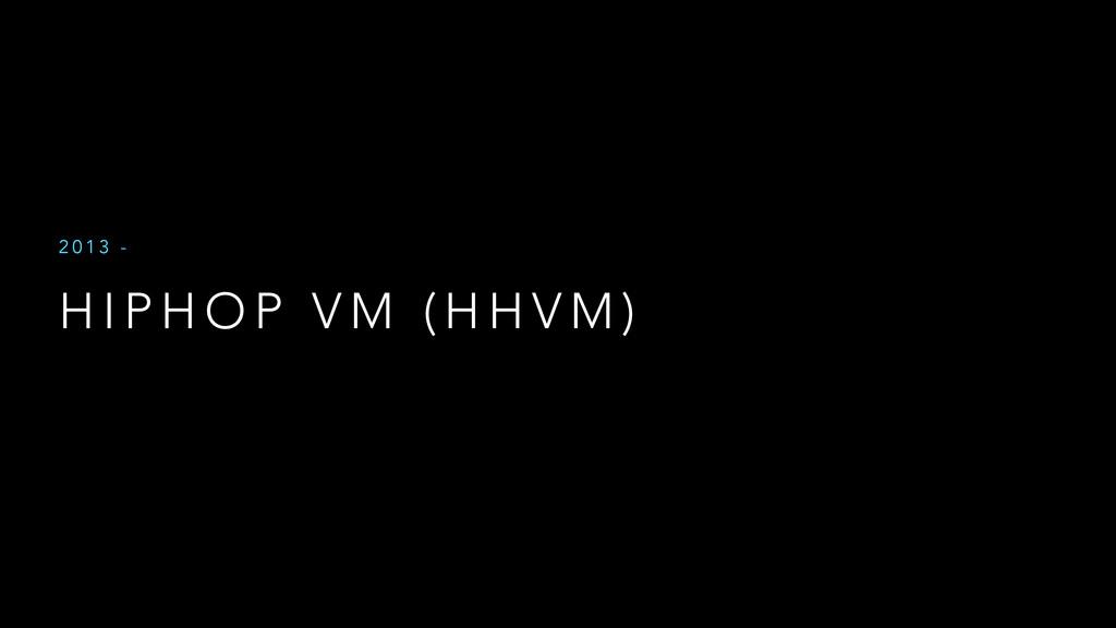 H I P H O P V M ( H H V M ) 2 0 1 3 -
