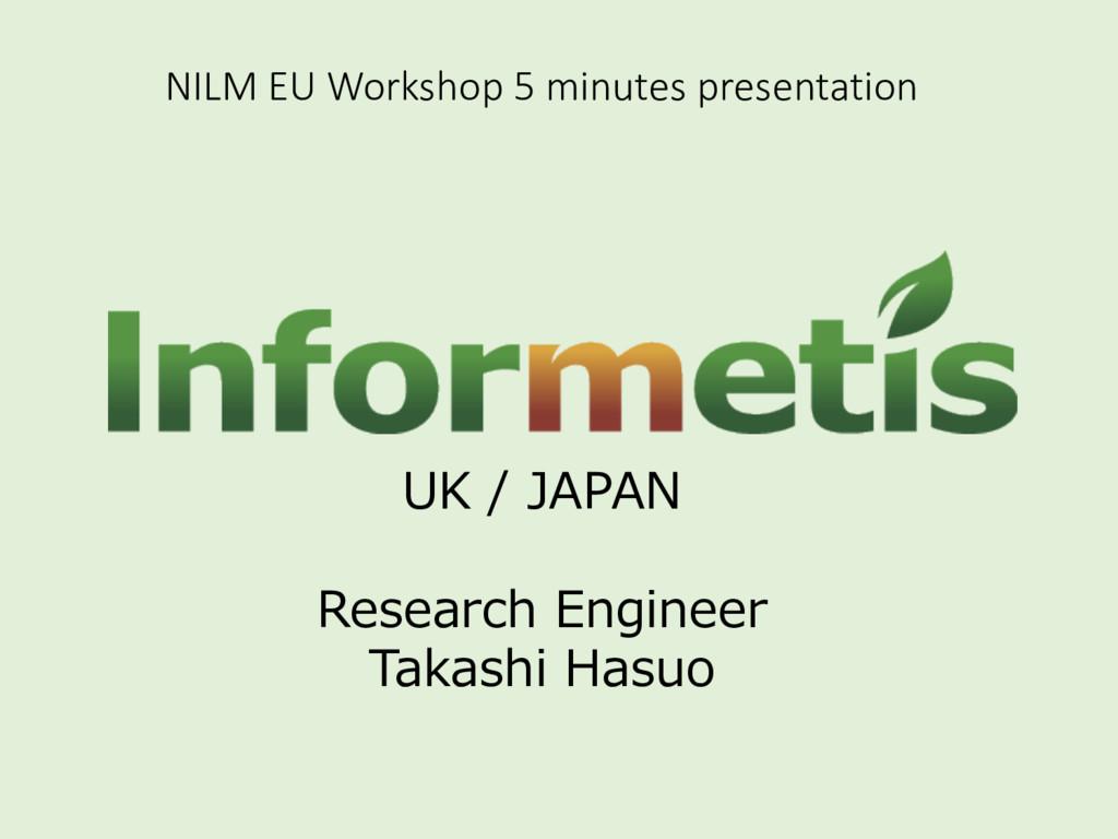 NILM EU Workshop 5 minutes prese...
