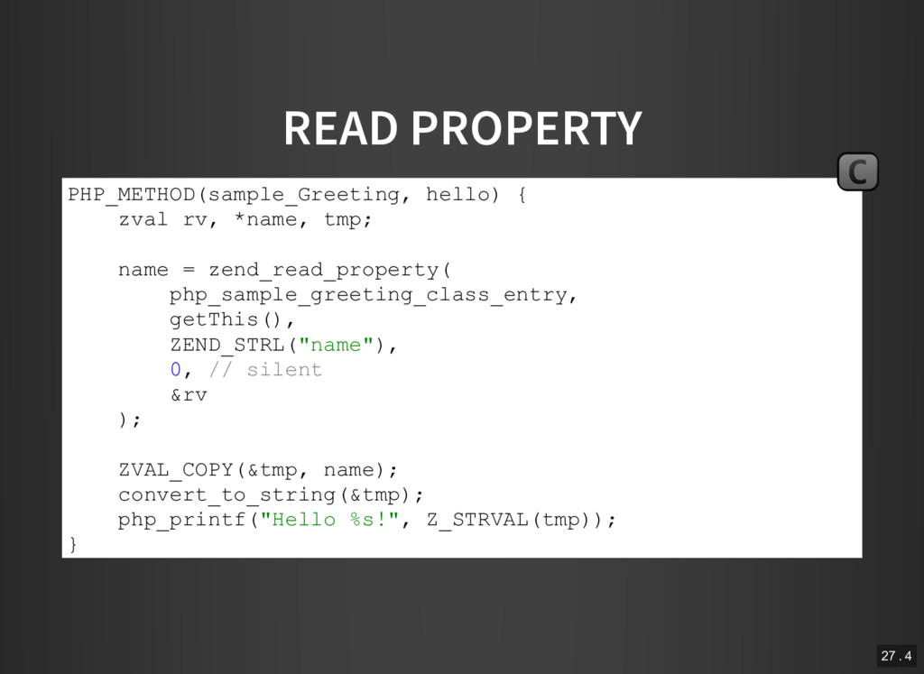 READ PROPERTY PHP_METHOD(sample_Greeting, hello...