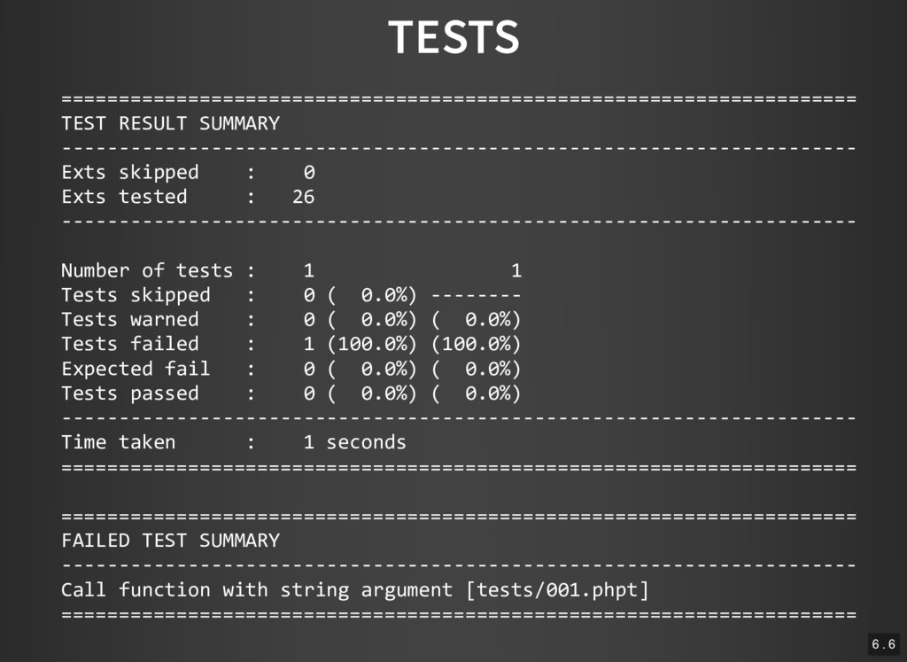 TESTS =========================================...