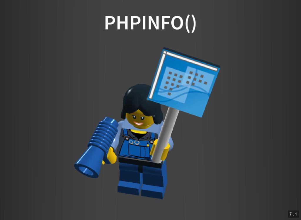 PHPINFO() 7 . 1