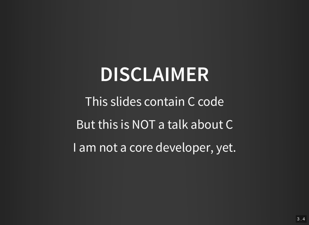 DISCLAIMER This slides contain C code But this ...