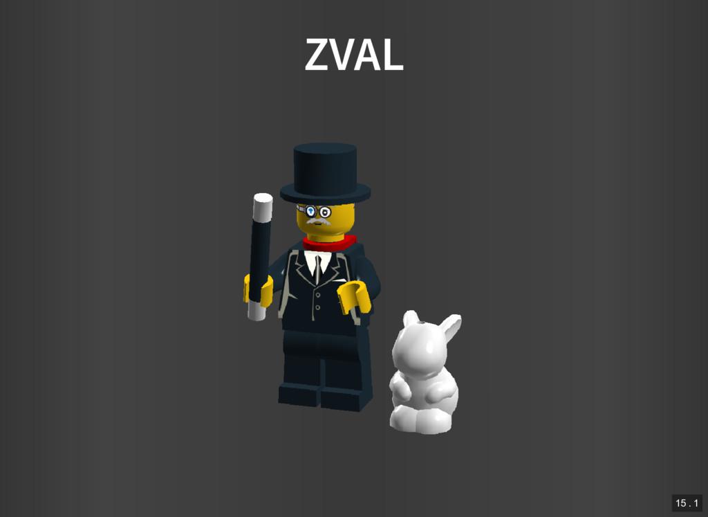 ZVAL 15 . 1