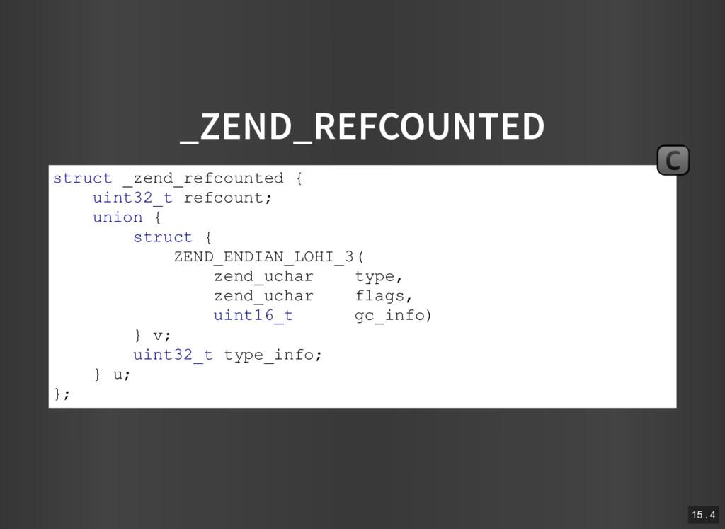_ZEND_REFCOUNTED struct _zend_refcounted { uint...