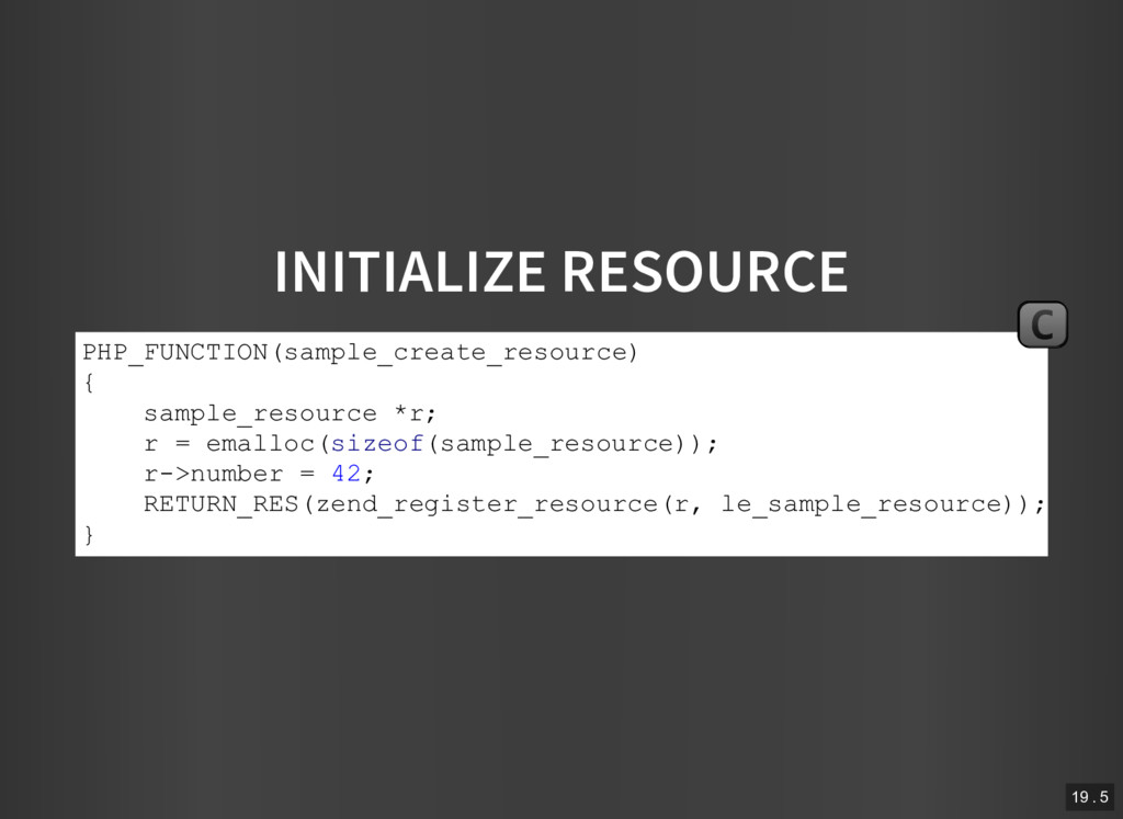 INITIALIZE RESOURCE PHP_FUNCTION(sample_create_...