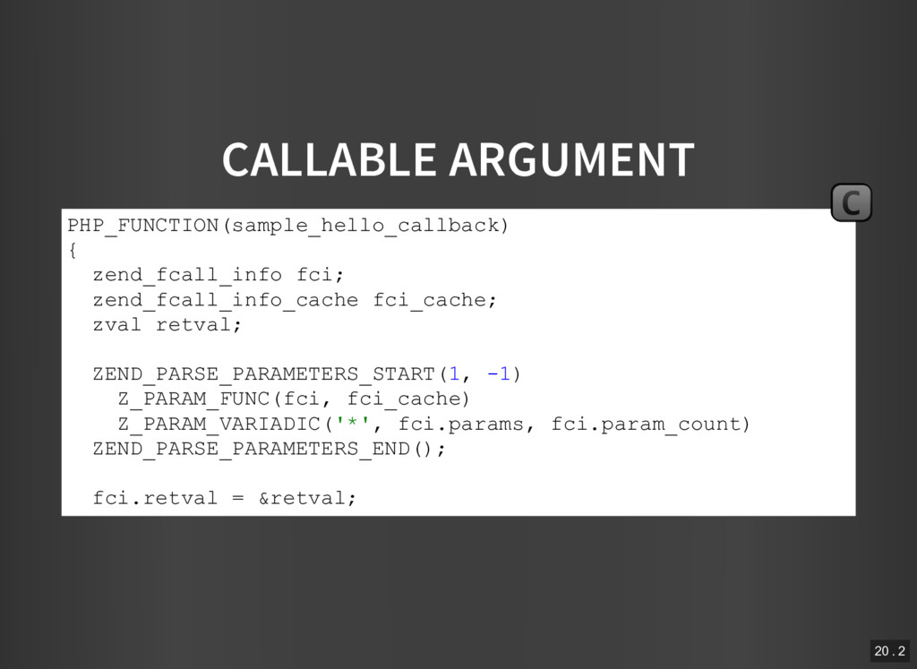 CALLABLE ARGUMENT PHP_FUNCTION(sample_hello_cal...