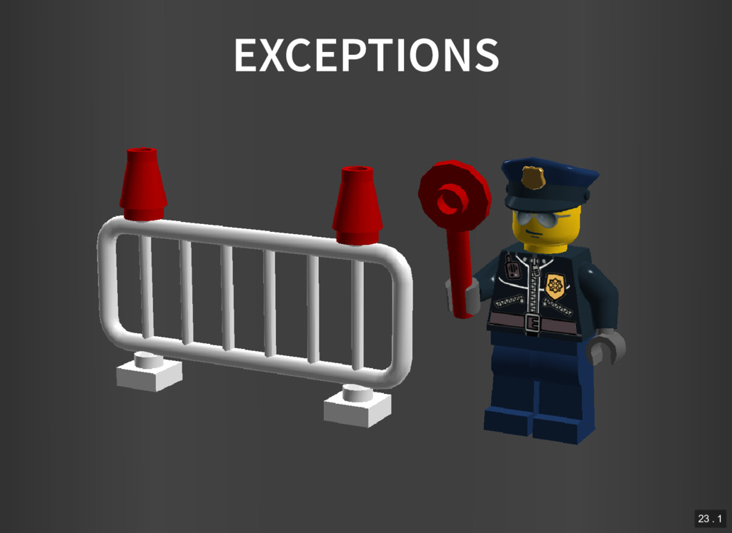 EXCEPTIONS 23 . 1