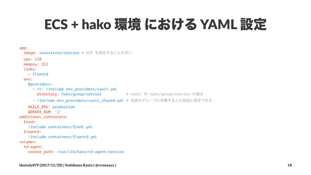 ECS + hako ڥ ʹ͓͚Δ YAML ઃఆ app: image: xxxxxxxx...