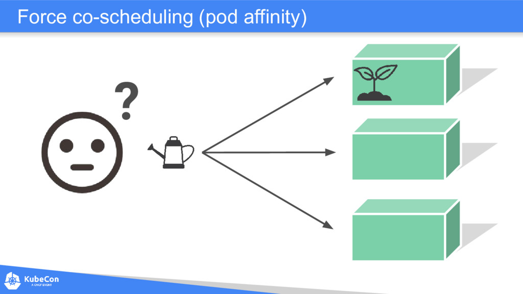 Force co-scheduling (pod affinity) ?