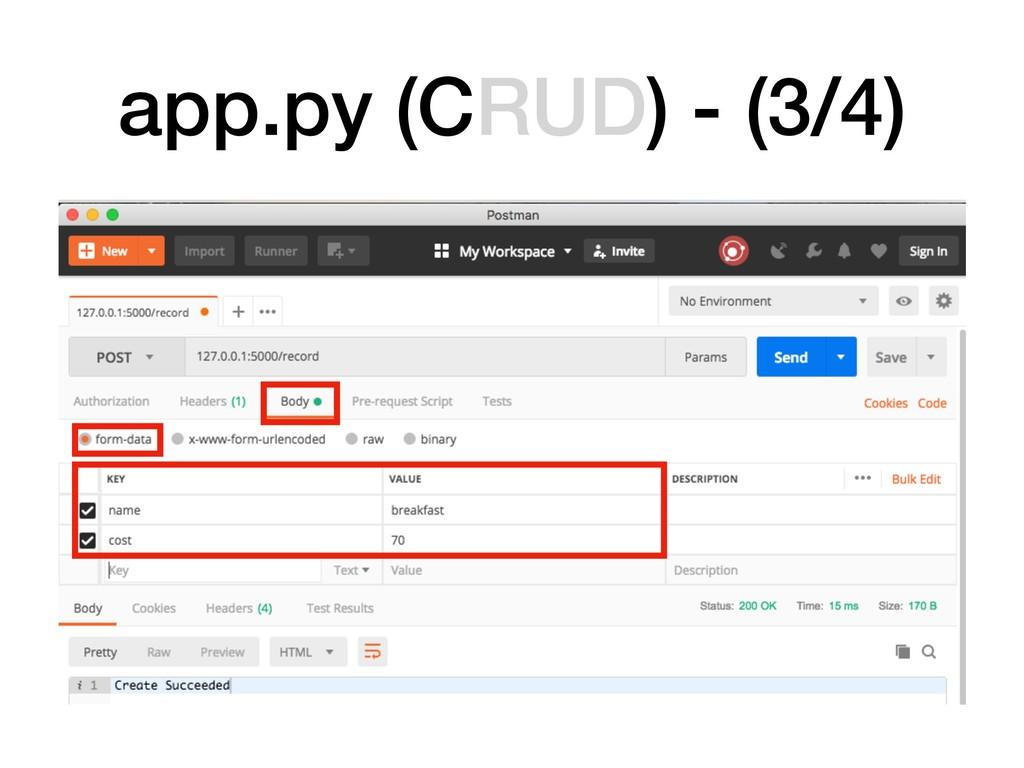 app.py (CRUD) - (3/4)