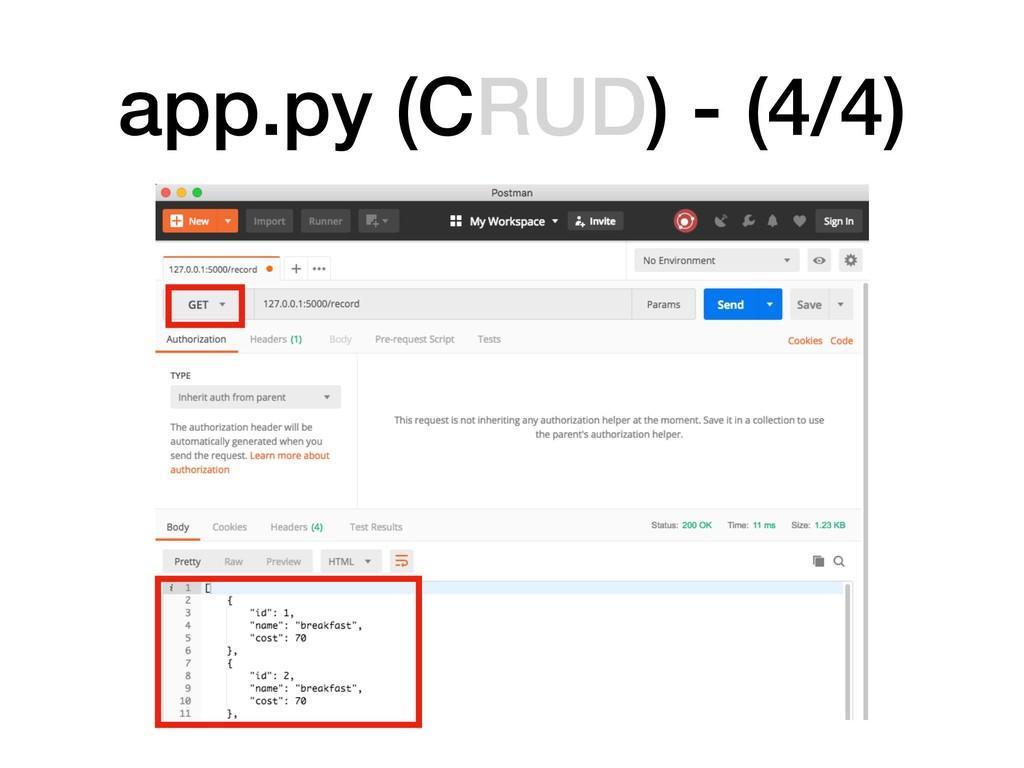 app.py (CRUD) - (4/4)