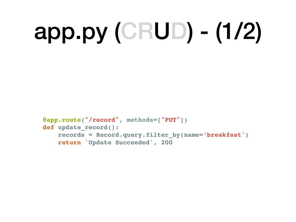 """@app.route(""""/record"""", methods=[""""PUT""""]) def upda..."""