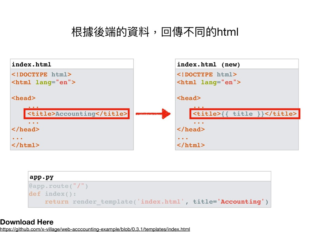 app.py index.html (new) <!DOCTYPE html> <html l...
