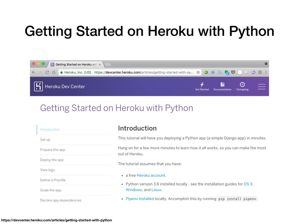Getting Started on Heroku with Python https://d...