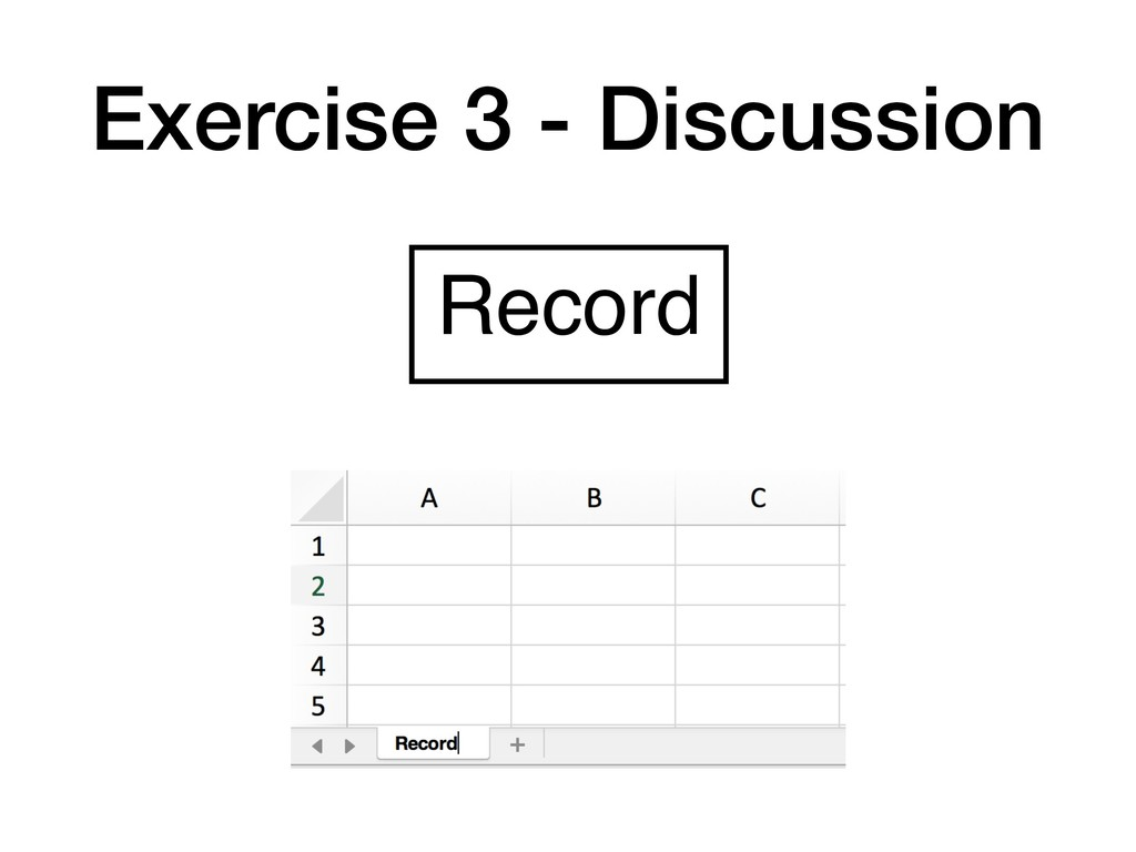 Exercise 3 - Discussion Record