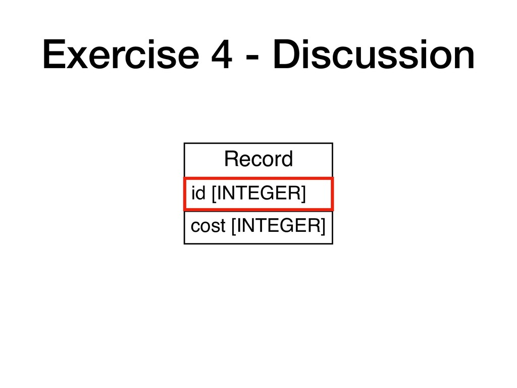 Exercise 4 - Discussion Record id [INTEGER] cos...