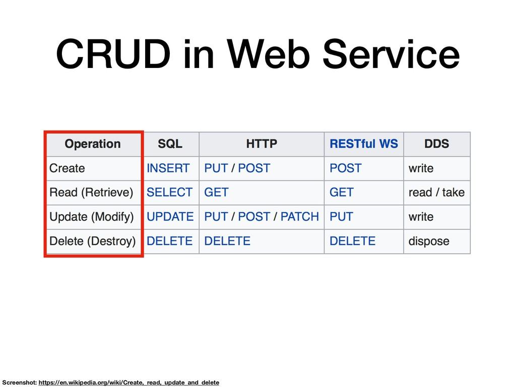 CRUD in Web Service Screenshot: https://en.wiki...