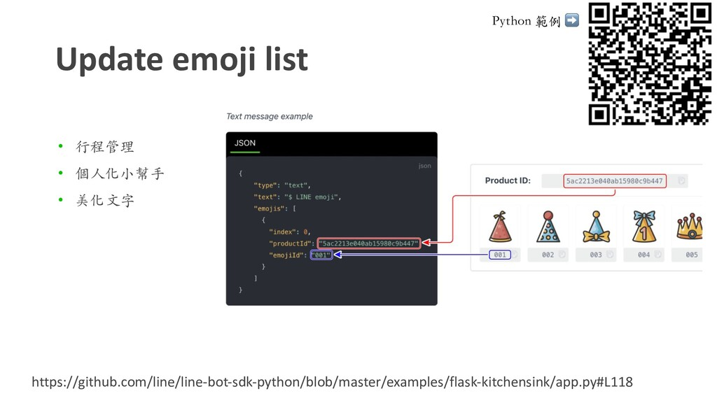 Update emoji list • ⾏程管理 • 個⼈化⼩幫⼿ • 美化⽂字 https:...