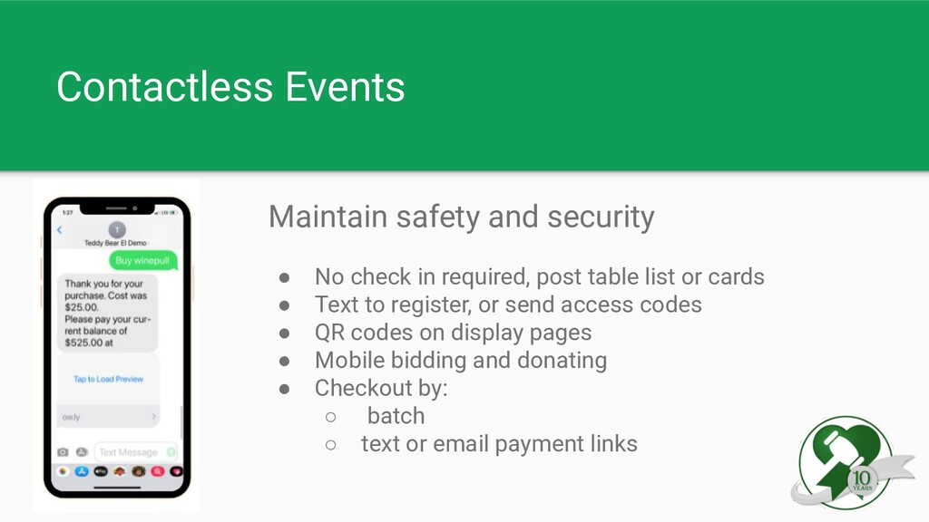 Contactless Events Maintain safety and security...
