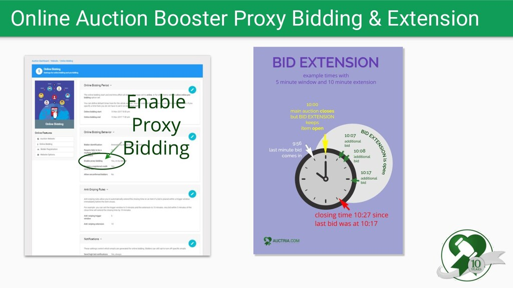 Online Auction Booster Proxy Bidding & Extension
