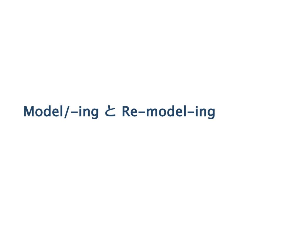 Model/‑ing と Re‑model‑ing
