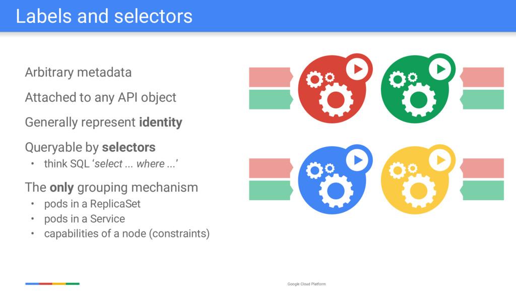 Google Cloud Platform Labels and selectors Arbi...