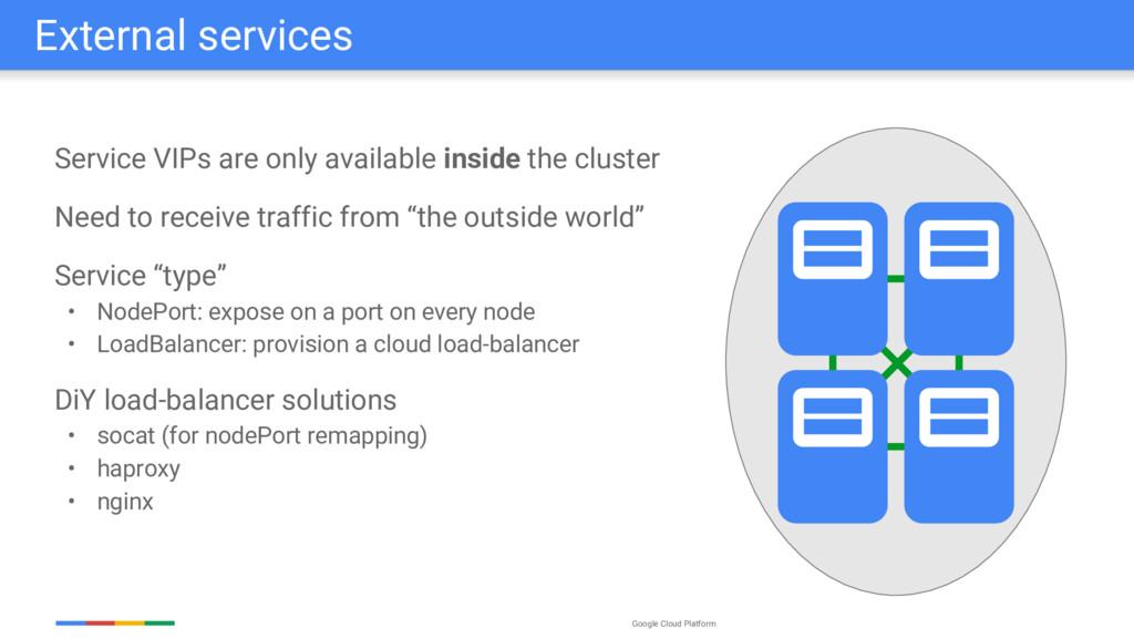 Google Cloud Platform Service VIPs are only ava...