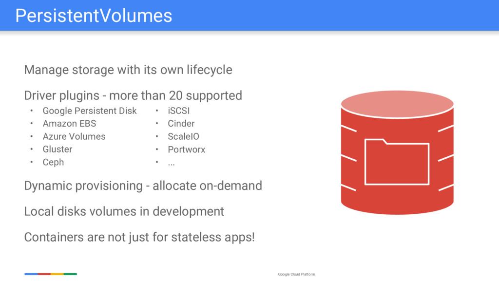 Google Cloud Platform Manage storage with its o...