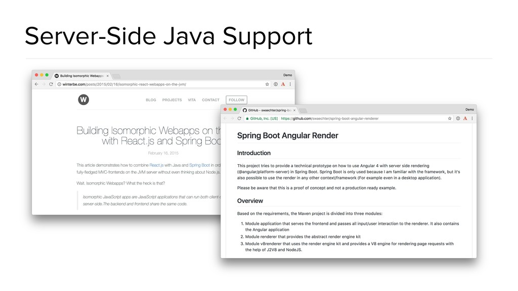 Server-Side Java Support