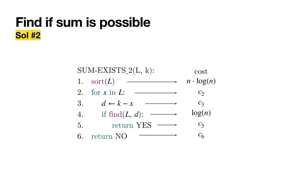 Find if sum is possible Sol #2 SUM-EXISTS_2(L, ...