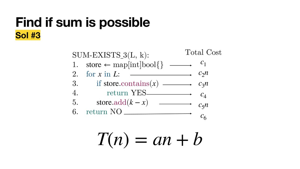Find if sum is possible Sol #3 SUM-EXISTS_3(L, ...