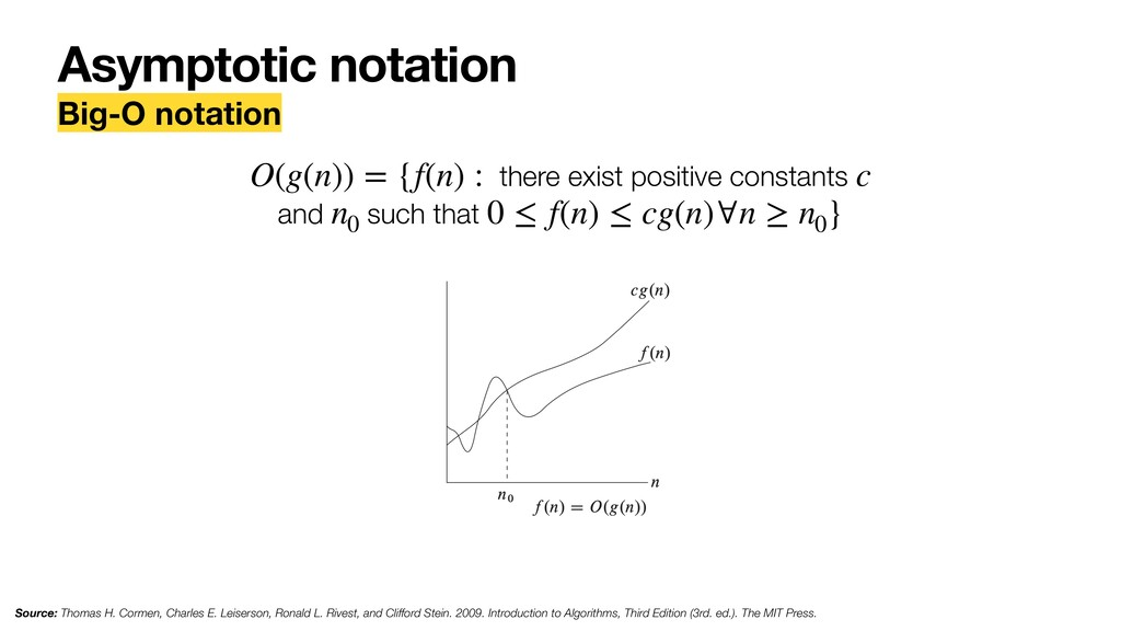 Asymptotic notation Big-O notation there exist ...