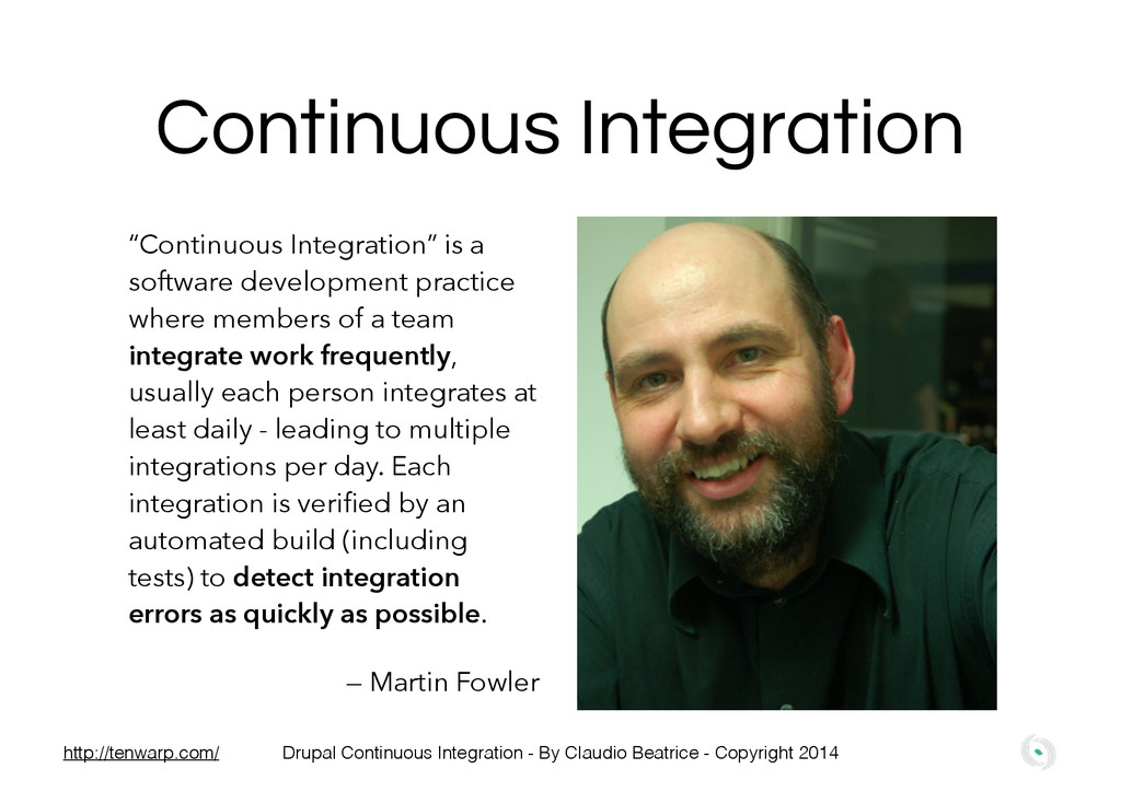 "Continuous Integration ""Continuous Integration""..."
