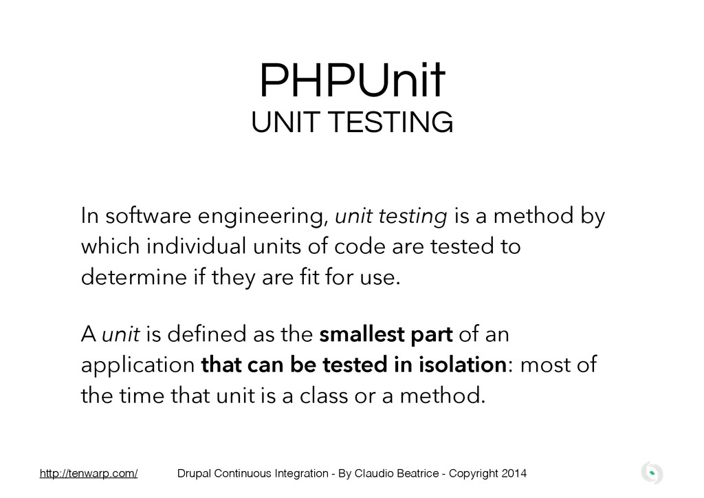PHPUnit In software engineering, unit testing i...