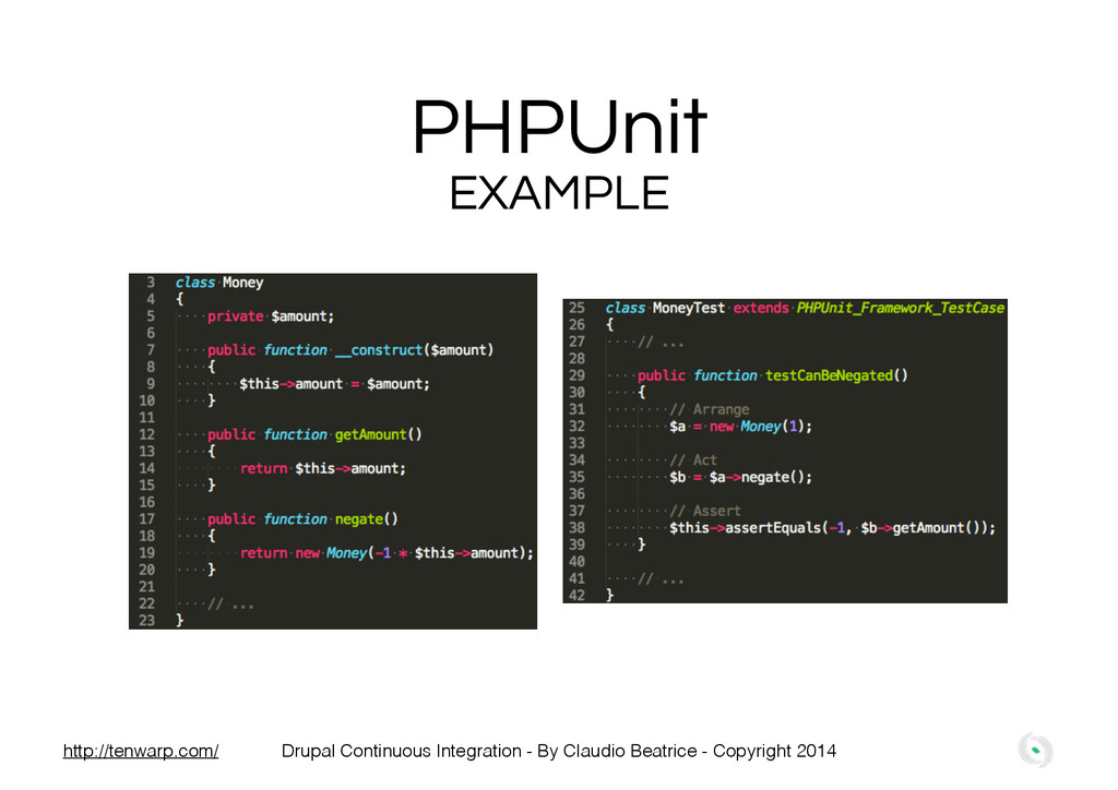 PHPUnit EXAMPLE Drupal Continuous Integration -...