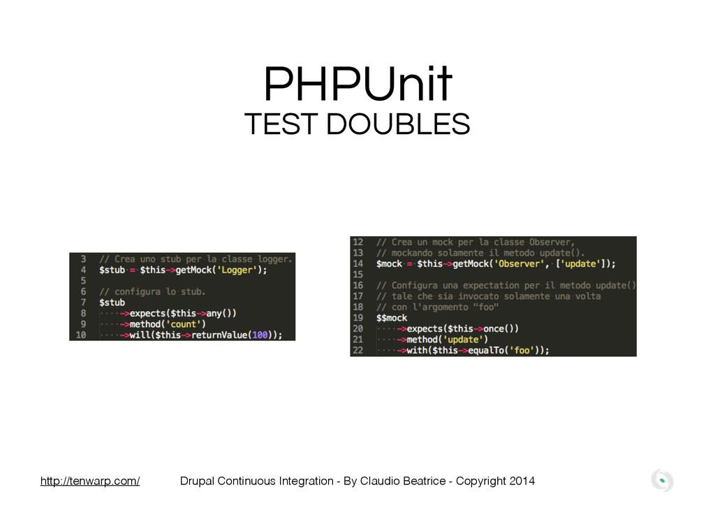 PHPUnit TEST DOUBLES Drupal Continuous Integrat...