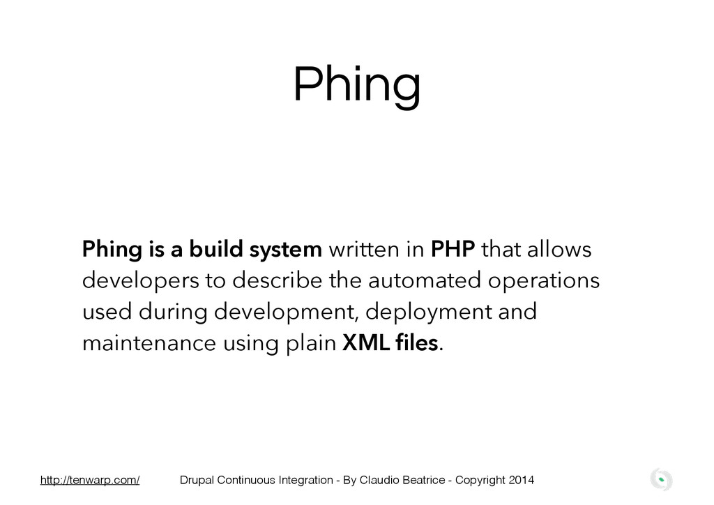Phing is a build system written in PHP that all...