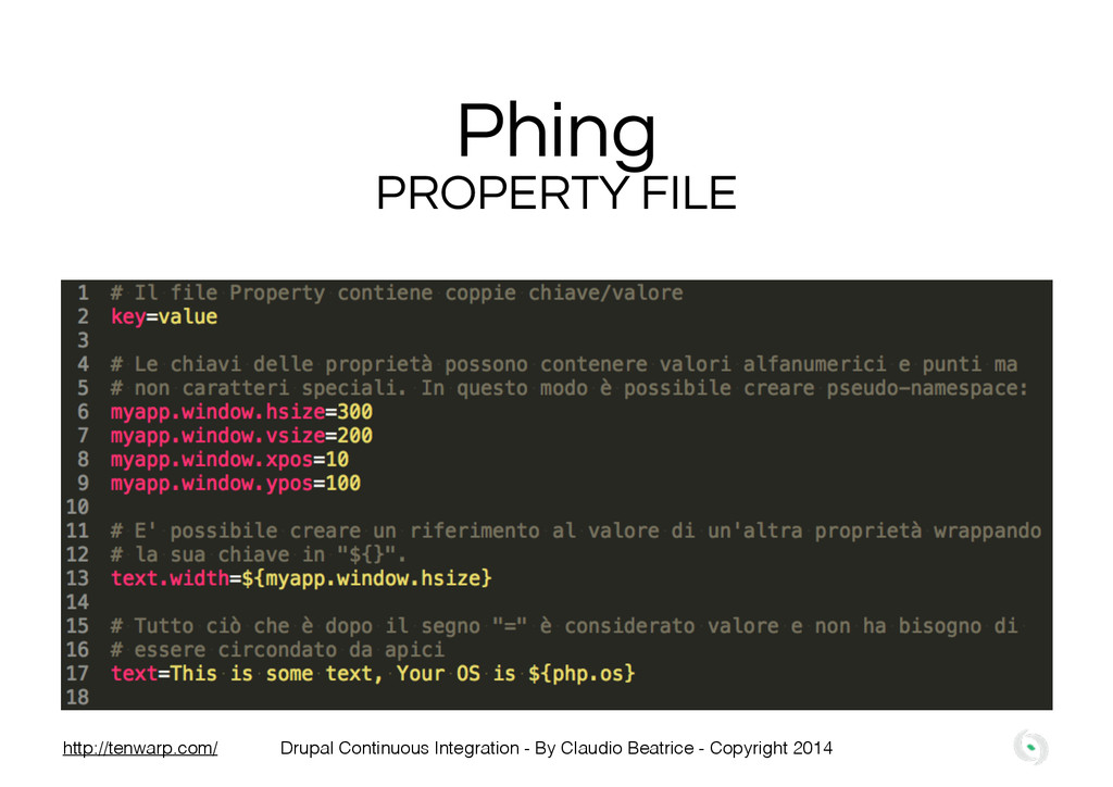 Phing PROPERTY FILE Drupal Continuous Integrati...