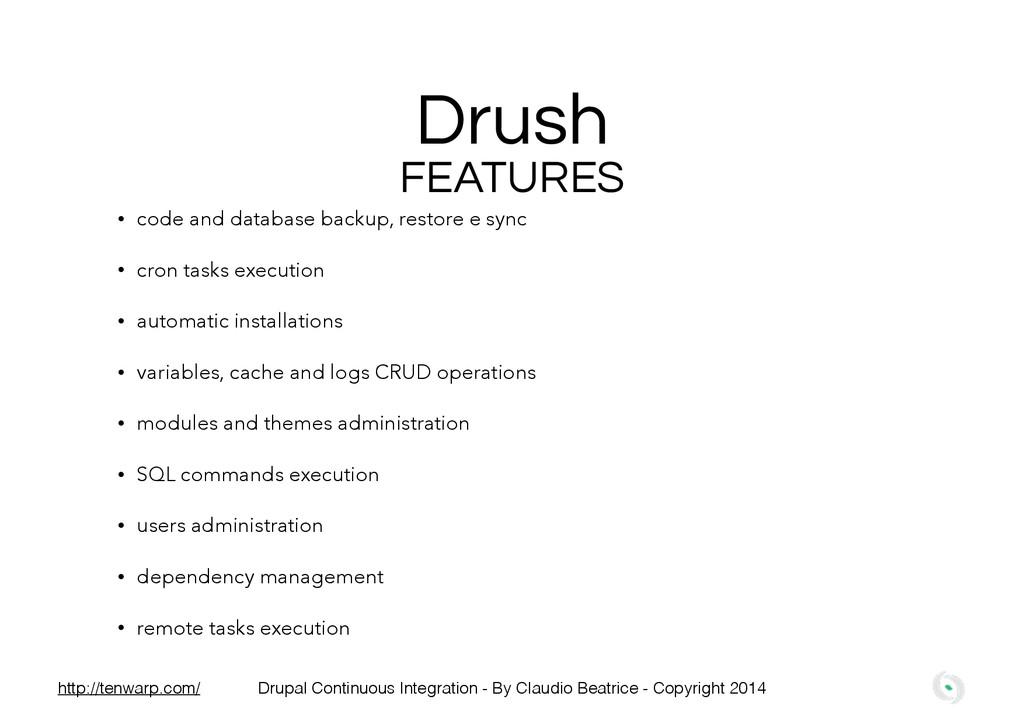 Drush • code and database backup, restore e syn...