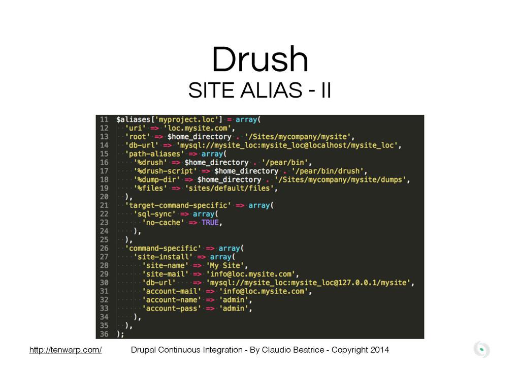 Drush SITE ALIAS - II Drupal Continuous Integra...