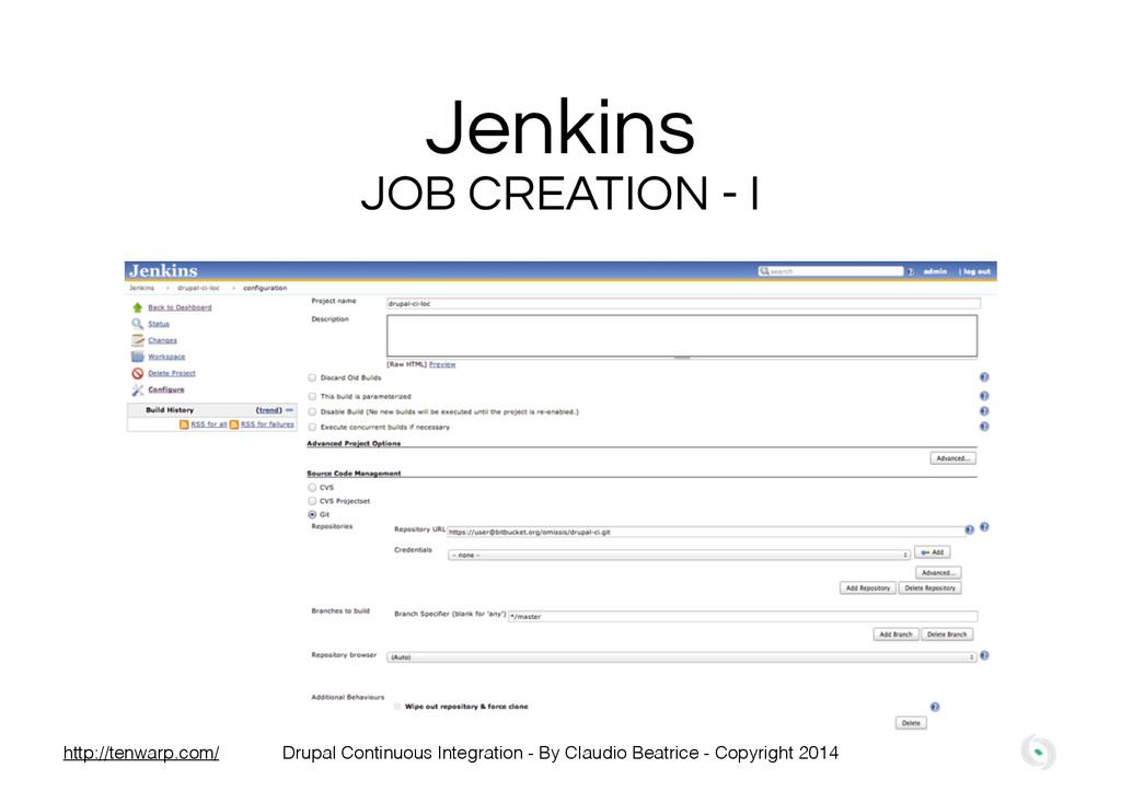 Jenkins JOB CREATION - I Drupal Continuous Inte...