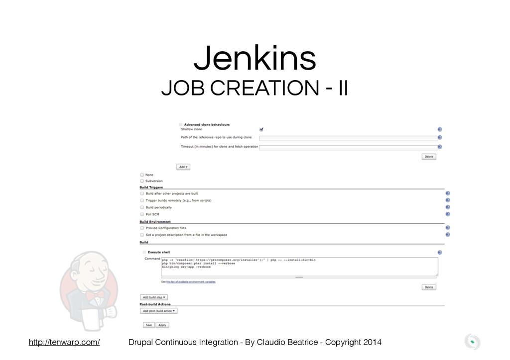 Jenkins JOB CREATION - II Drupal Continuous Int...