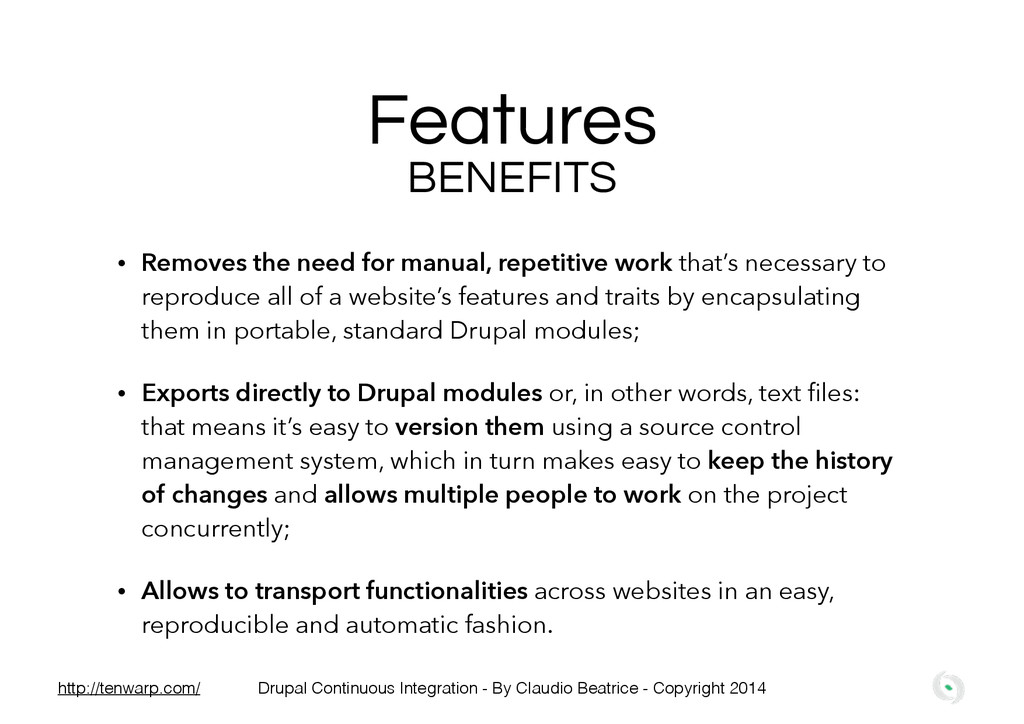 • Removes the need for manual, repetitive work ...